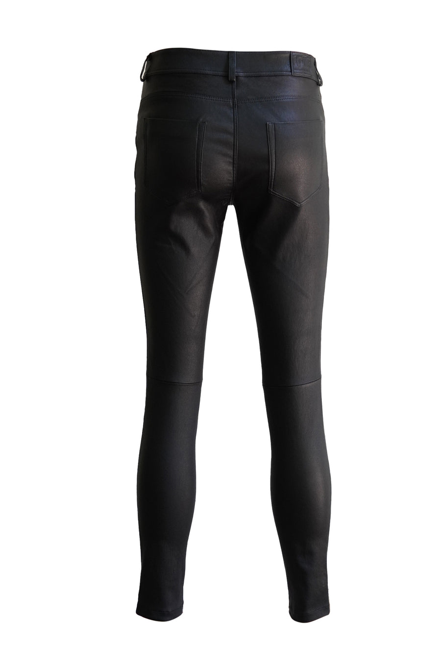 Leather Stretch Nappa Pant in Black