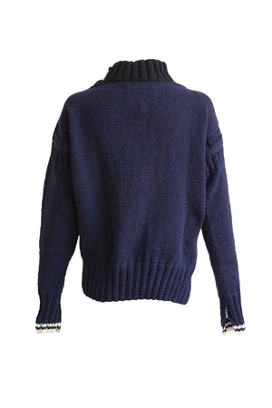 La Fetiche X Tom O'Sullivan & Joanne Tathan Collaboration Claude Sweater in Navy & Red