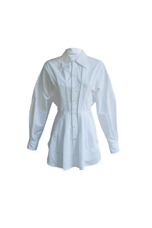 Pleated Shirt in White
