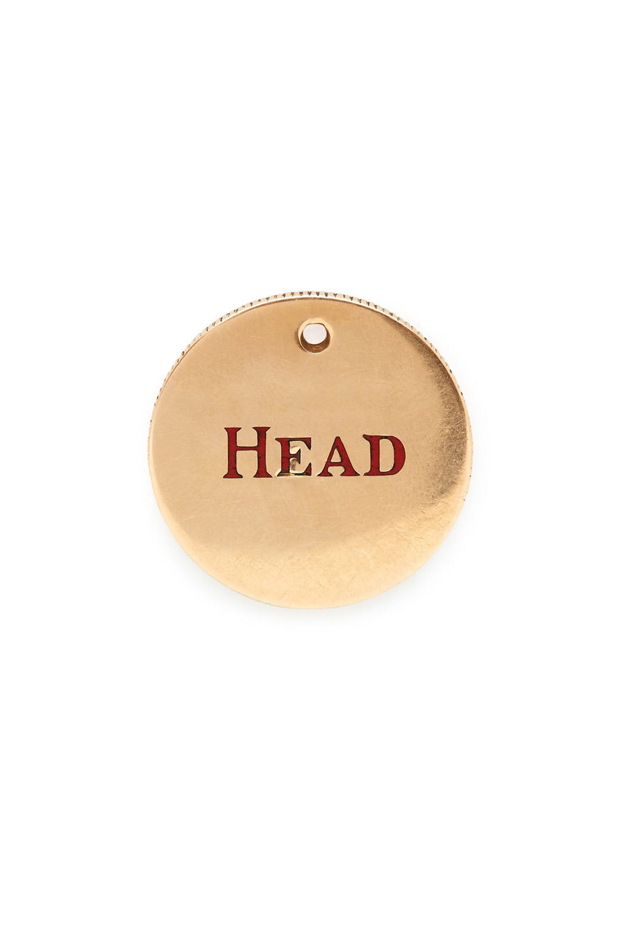 Gold Head or Tail Coin Charm