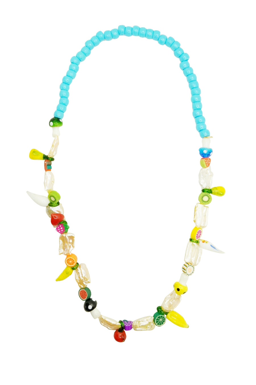 Turquoise Fruit Long Necklace