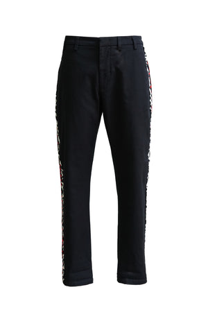 Pant with Leopard Stripe