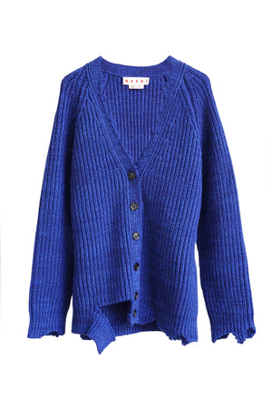 Long Sleeve Knit Cardigan in Navy