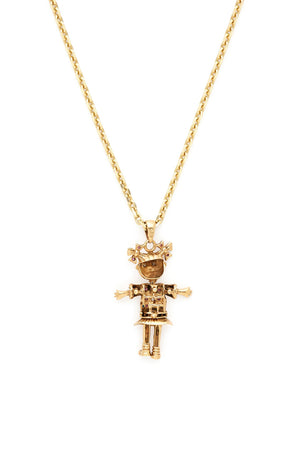 9K Gold & Sapphire with Skirt Doll Charm