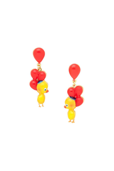 Duck with Balloons Earrings