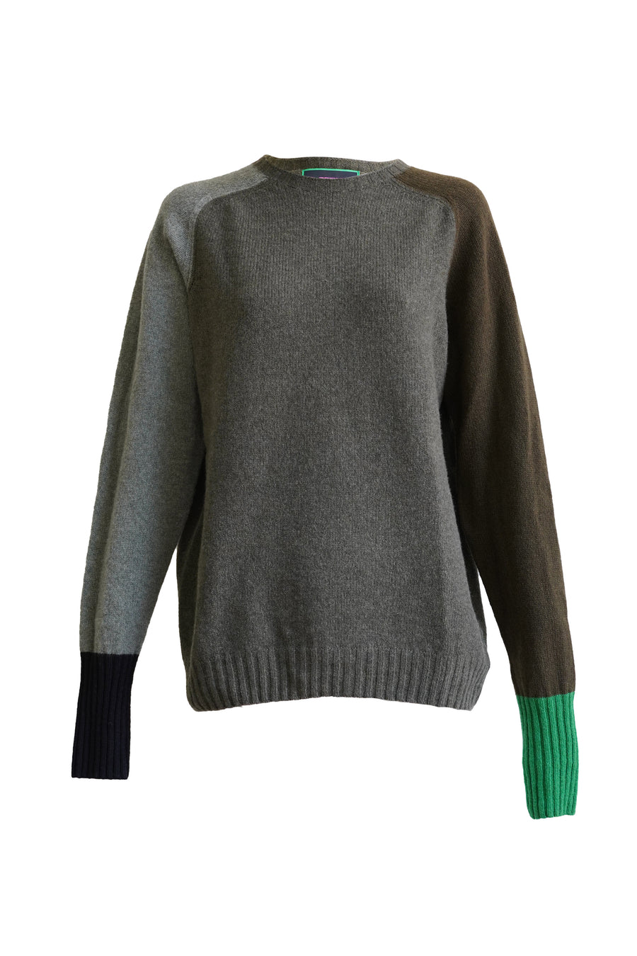 George Crewneck Sweater in Moss & Khaki