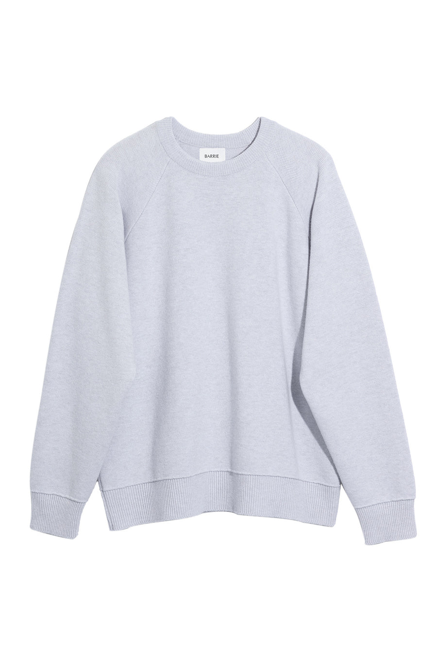 Ripple Neck Detail Sweater in Grey Calcite