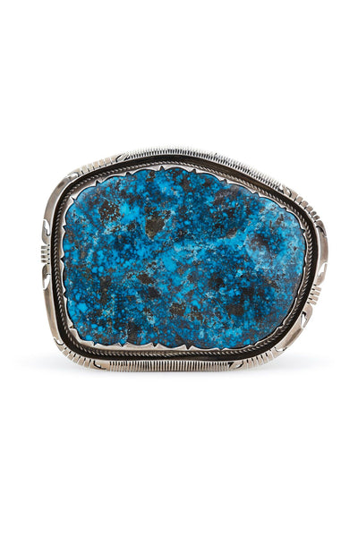 Sterling Silver Turquoise Extra Large Belt Buckle