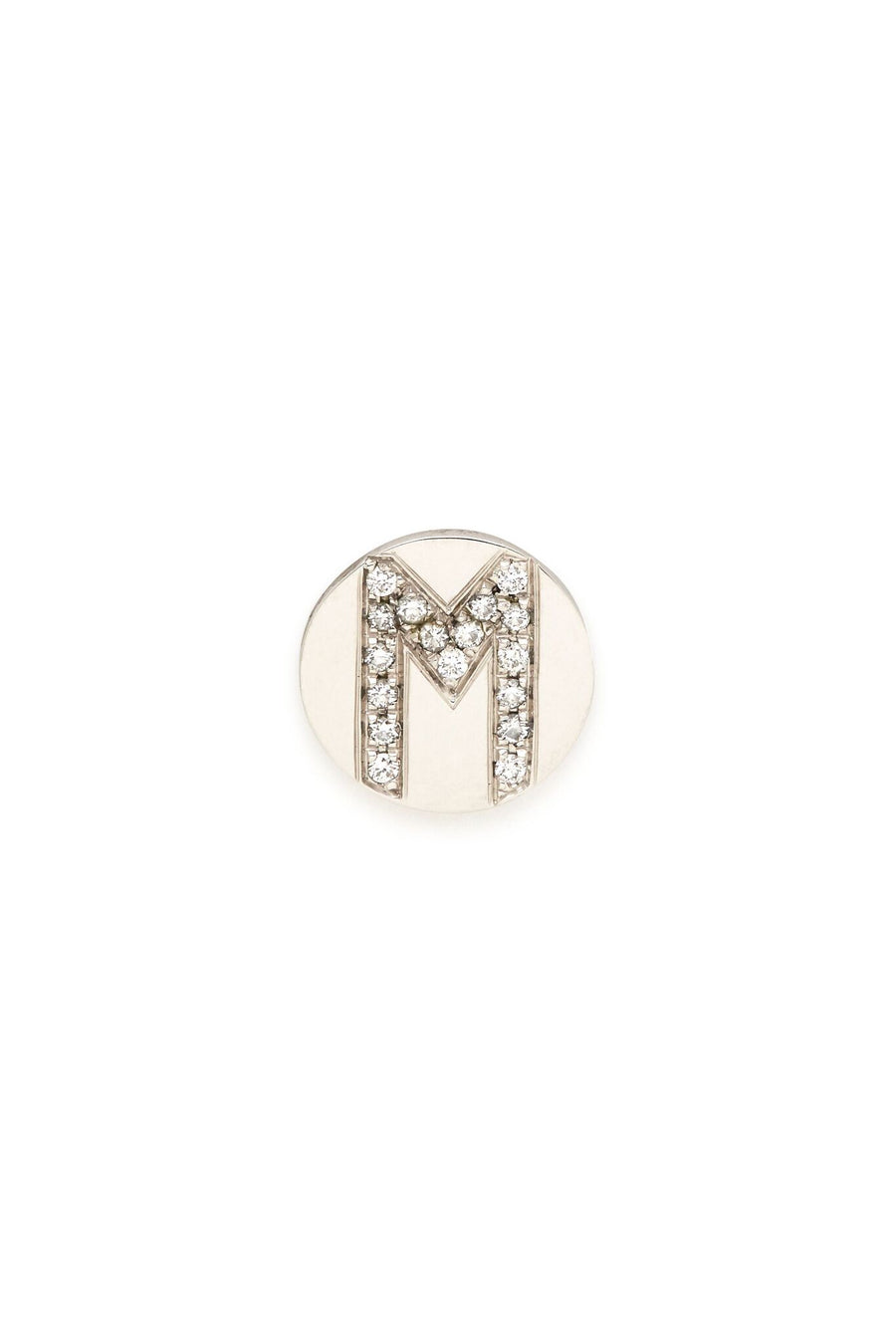Sterling Silver & Diamond Initial Magnetic Charm - M