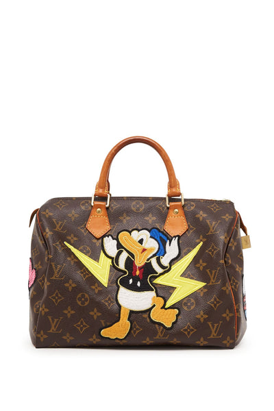 "Vintage Monogram LV Speedy 30 ""Donald Duck"" Bag"