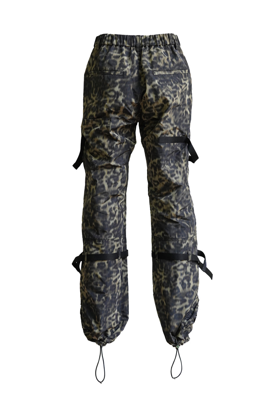 Leopard Print Camo Pant with Ties