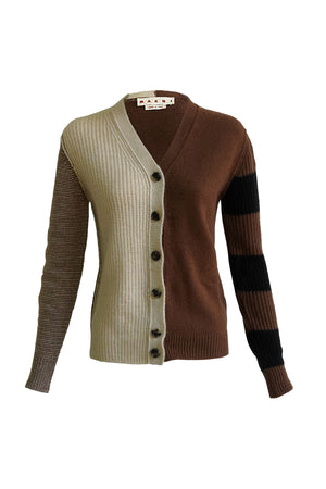 Panelled Cardigan in Recycled Cashmere