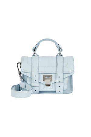 PS1 Micro Leather Bag in Baby Blue