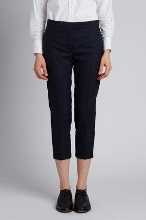 Super Twill Lowrise Skinny Trouser in Navy