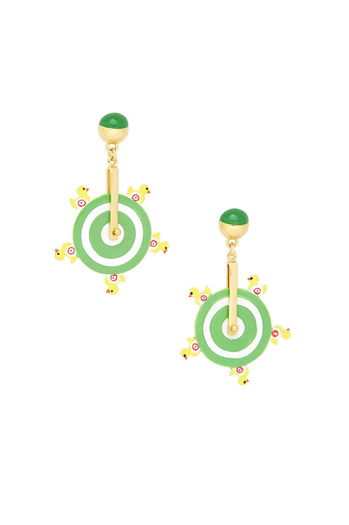 Duck Pond Spinning Wheel Earrings