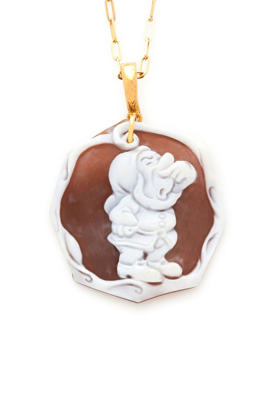 Sneezy of the Seven Dwarfs Cameo Pendant