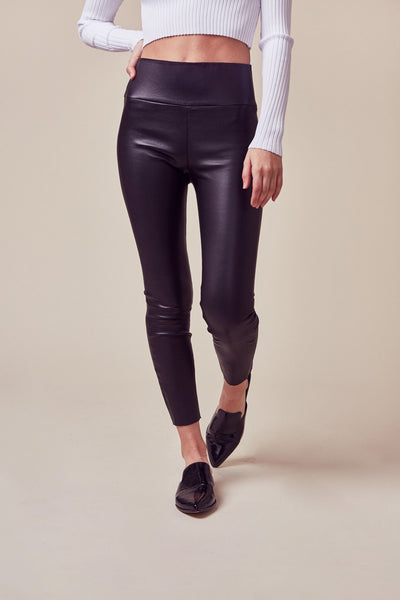 Black Leather Capri Legging