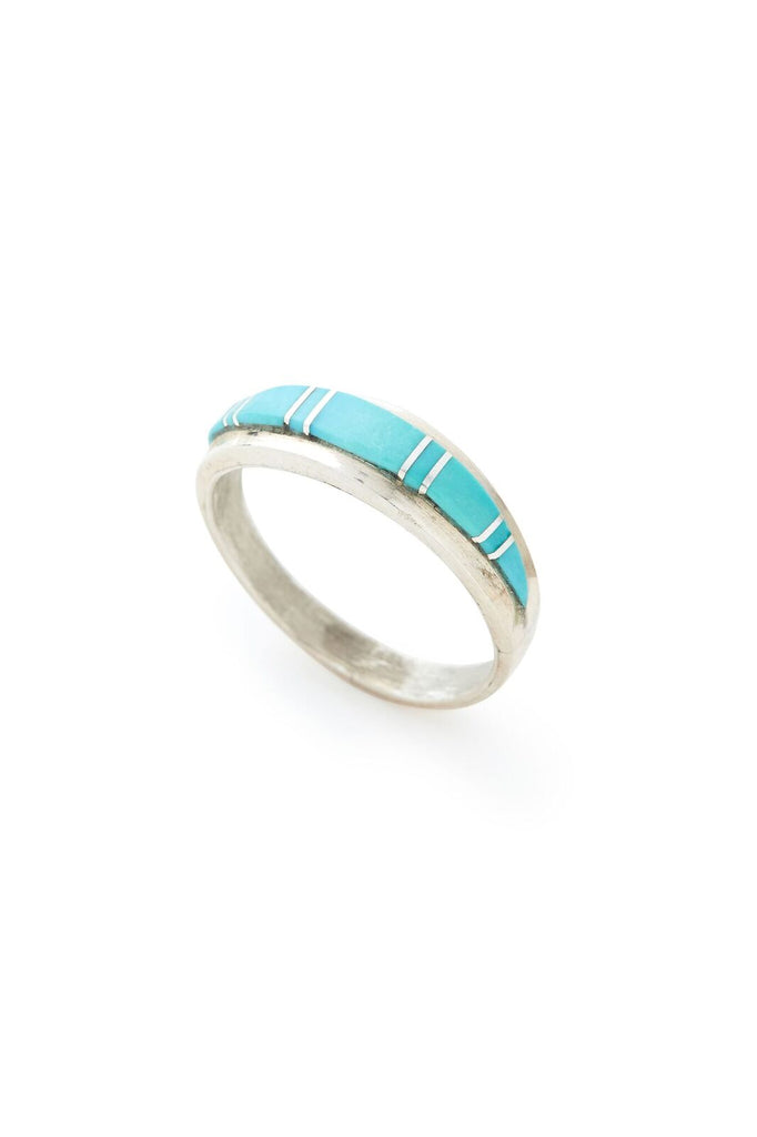 Sterling Silver Skinny Turquoise Ring