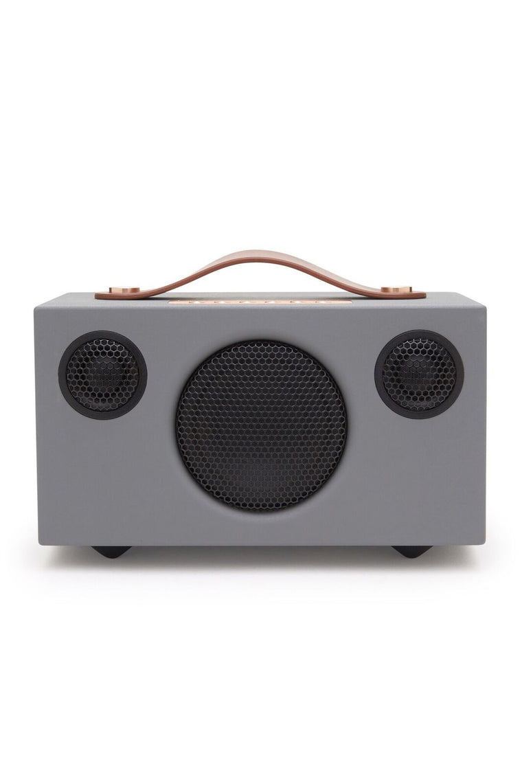 Grey Retro Portable Speaker