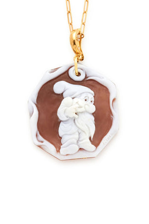 Bashful of the Seven Dwarfs Cameo Pendant