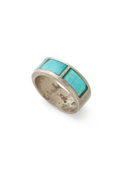 Sterling Silver Turquoise Cigar Band Ring