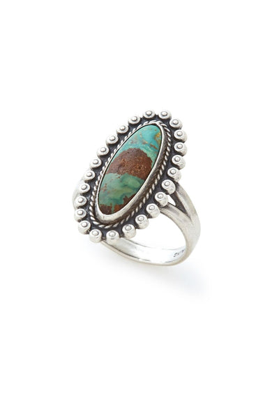 Sterling Silver Oblong Turquoise Ring