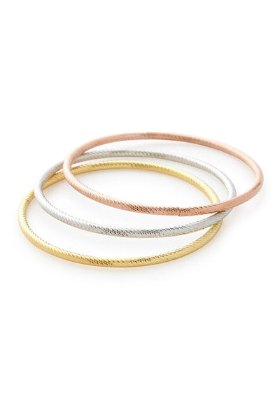 Gold, Rose Gold or Silver Bangle Bracelet