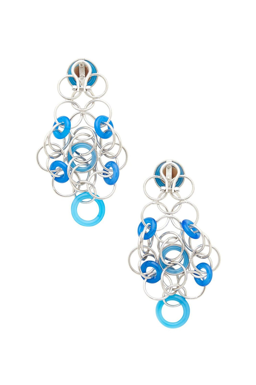 Sterling Silver and Blue Cameo Earrings
