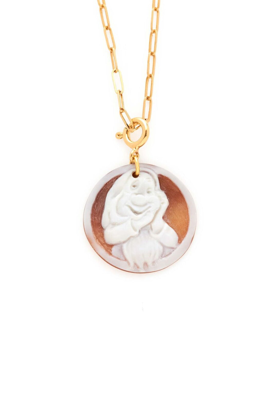 Sleepy Dwarf Small Cameo Pendant