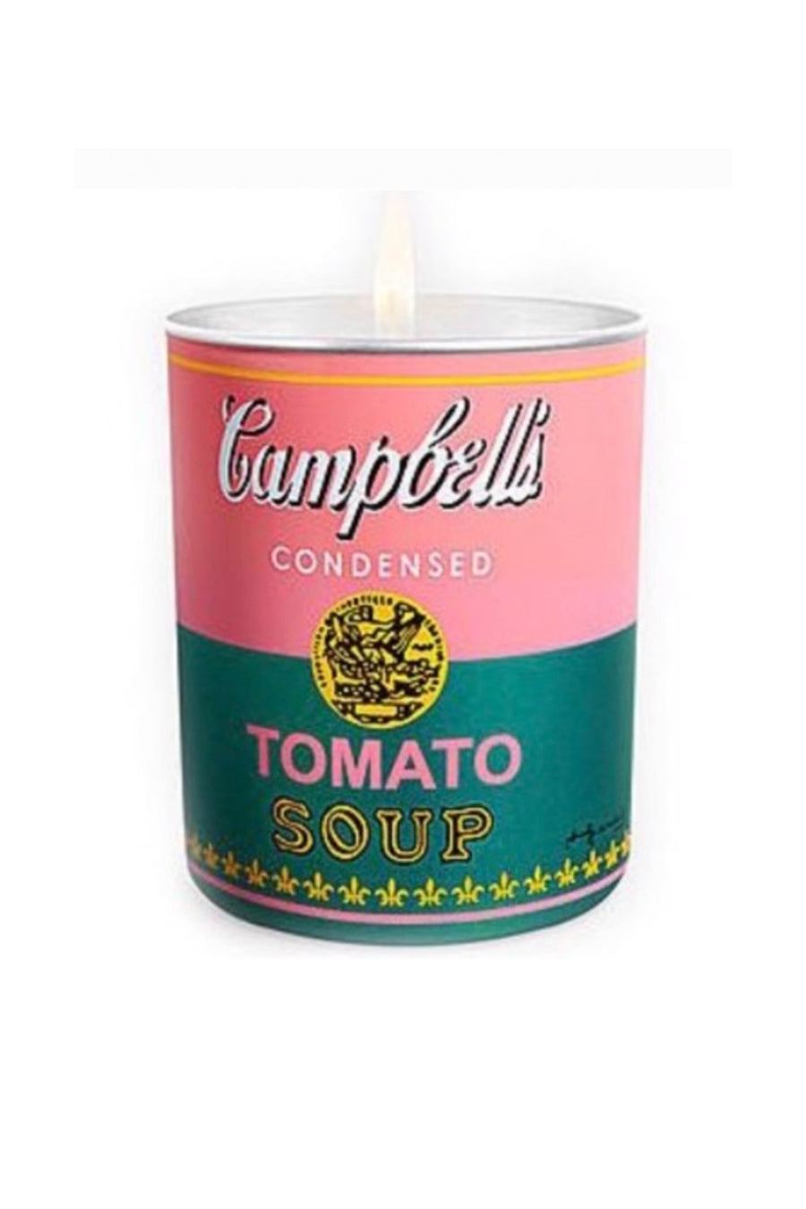 Andy Warhol Pink & Green Campbell Soup Candle