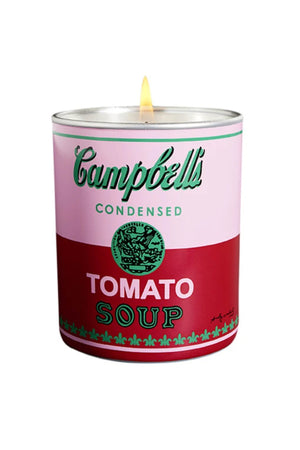 Andy Warhol Pink & Red Campbell Soup Candle