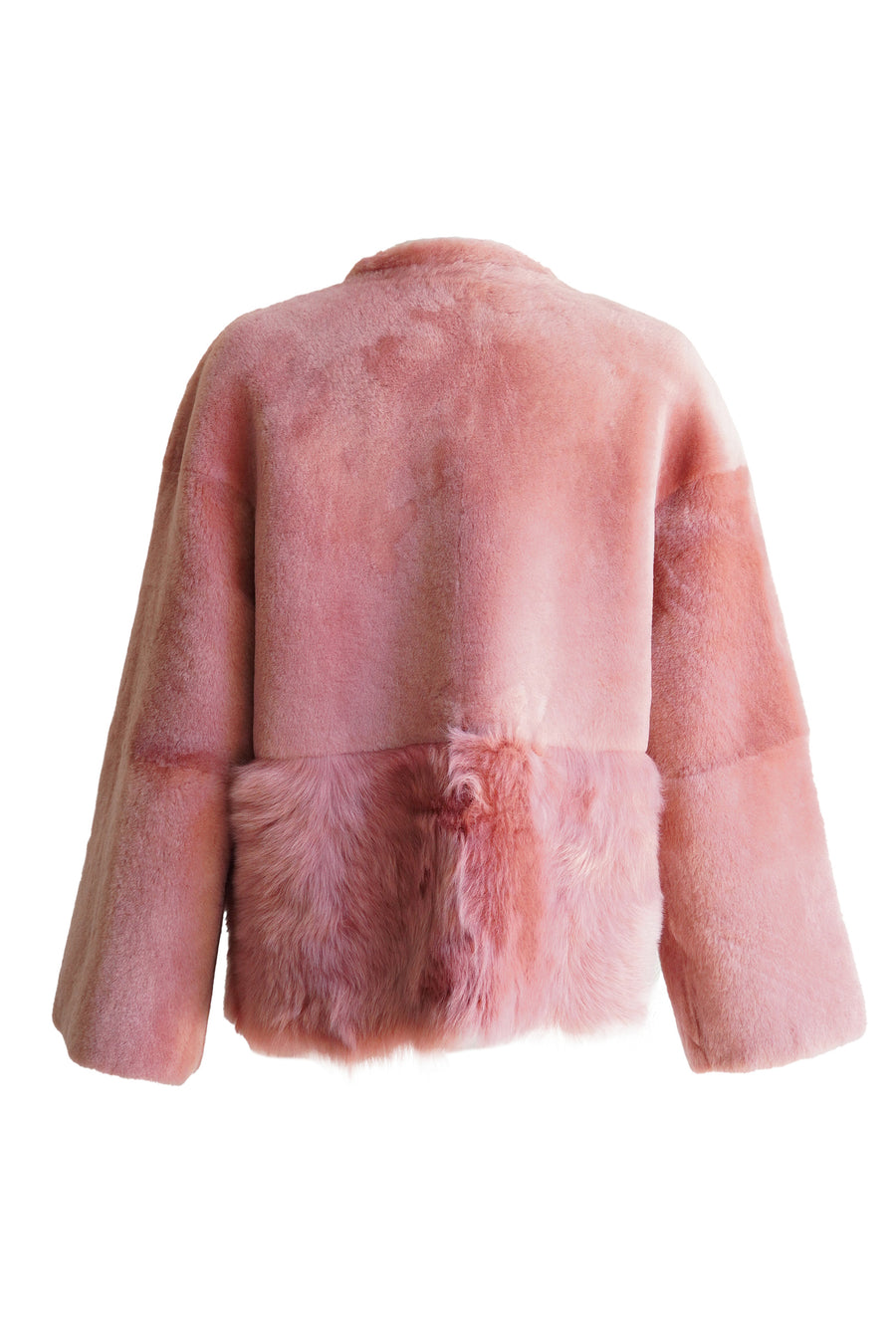 Shearling Jacket in Peony Rose