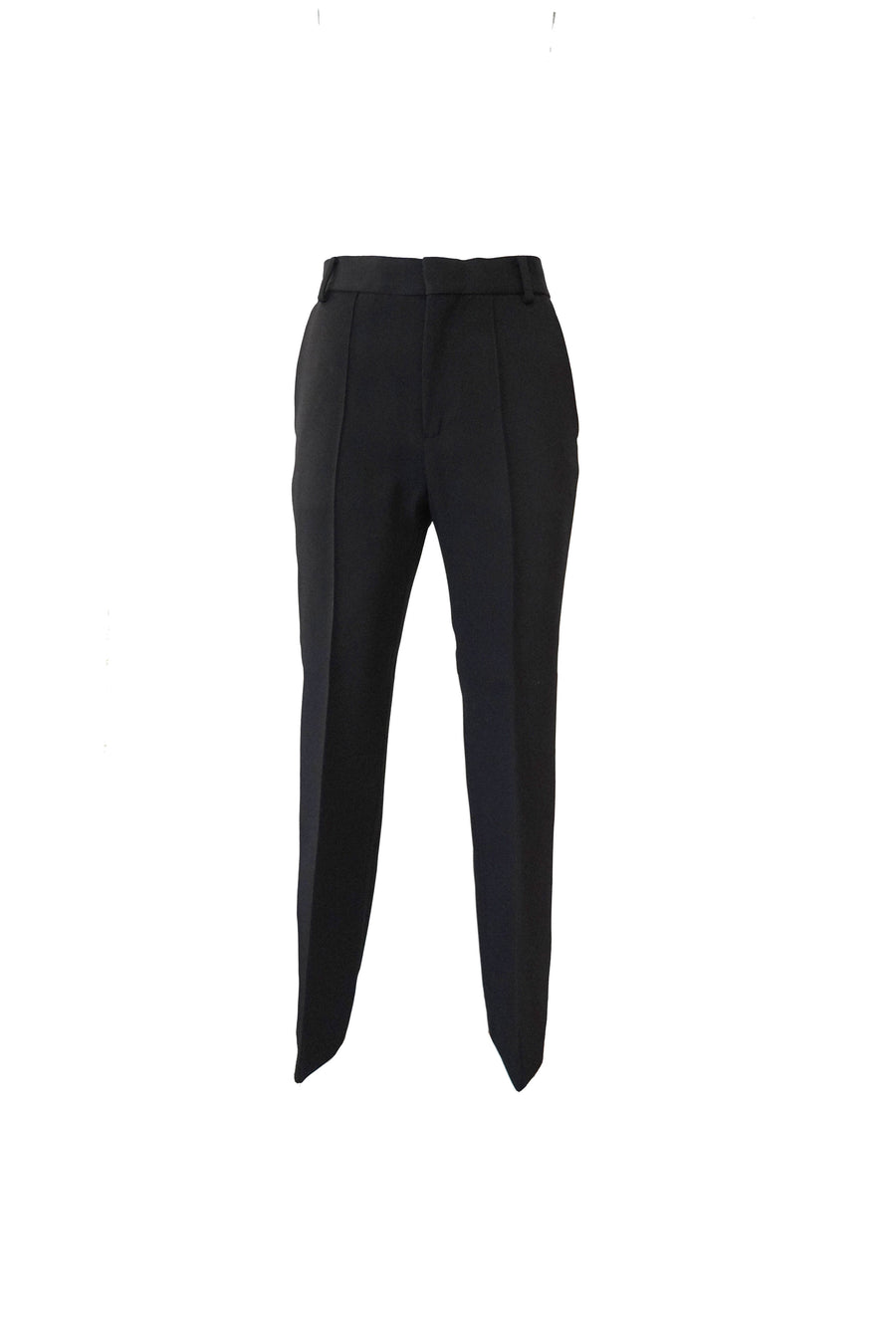 High Rise Straight Cropped Pants in Black