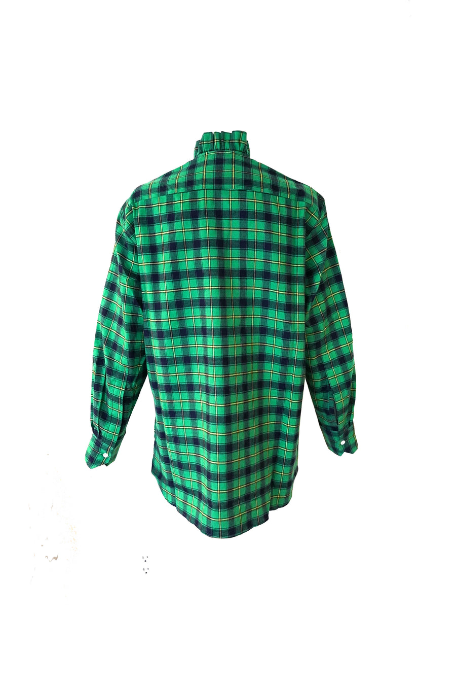 Long Sleeve Shirt in Green Plaid