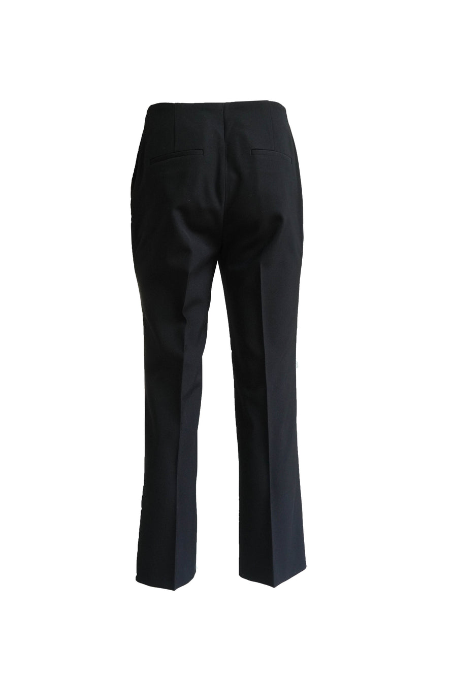 Technical Wool Suiting Crop Flare Pant in Black