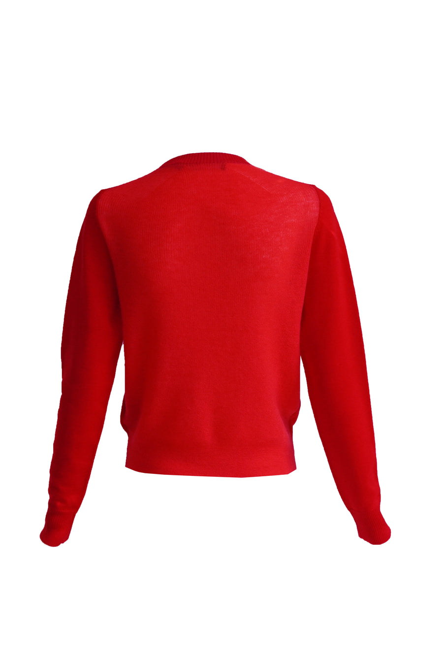 Lightweight Merino Crewneck Sweater in Red