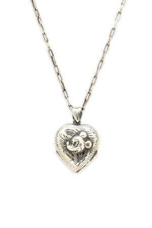 Sterling Silver and 10K Gold Mickey Heart Locket