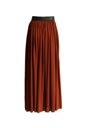 Lightweight Jersey Skirt with Belt Detail