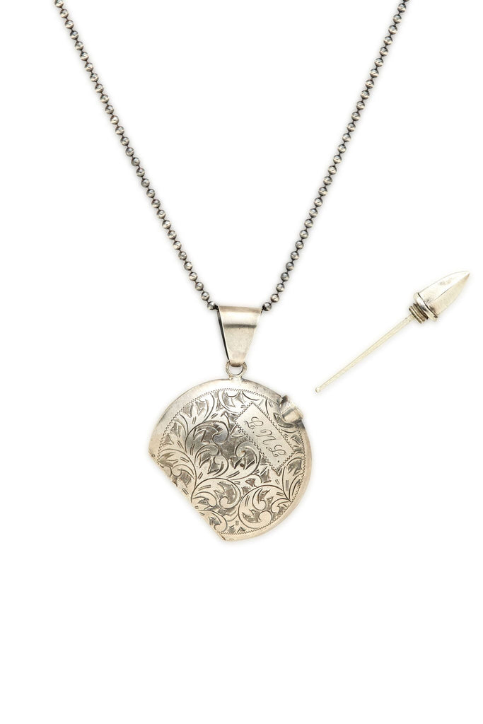 Sterling Silver and Gold Perfume Bottle Necklace