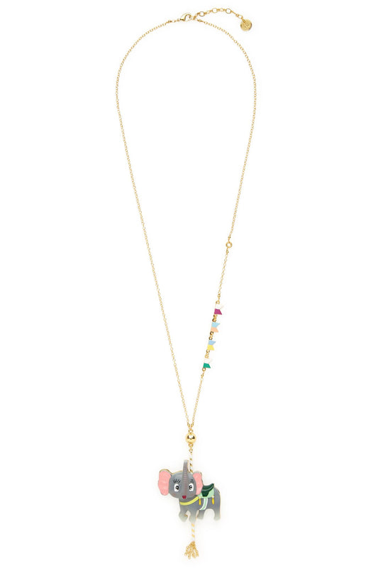 Carousel Elephant Necklace
