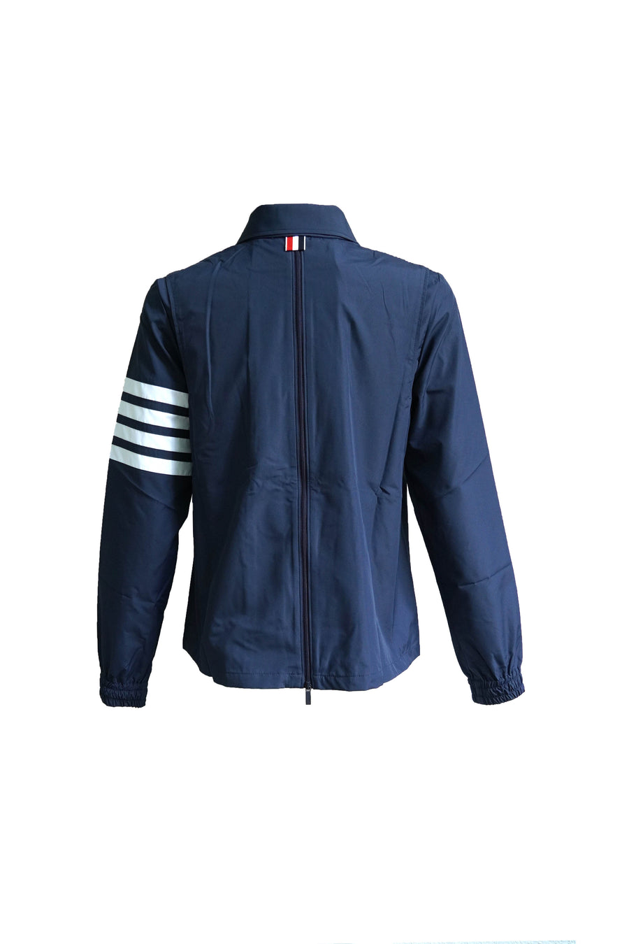 Point Collar Windbreaker with CB Zip Gusset in Flyweight Tech