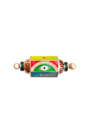 Eye Will Protect You Forever Punk Locket 14K