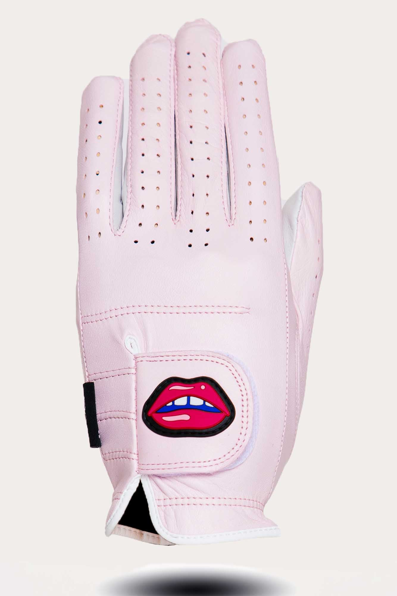 FORAY x ASHER Golf Glove - Pink | left   m