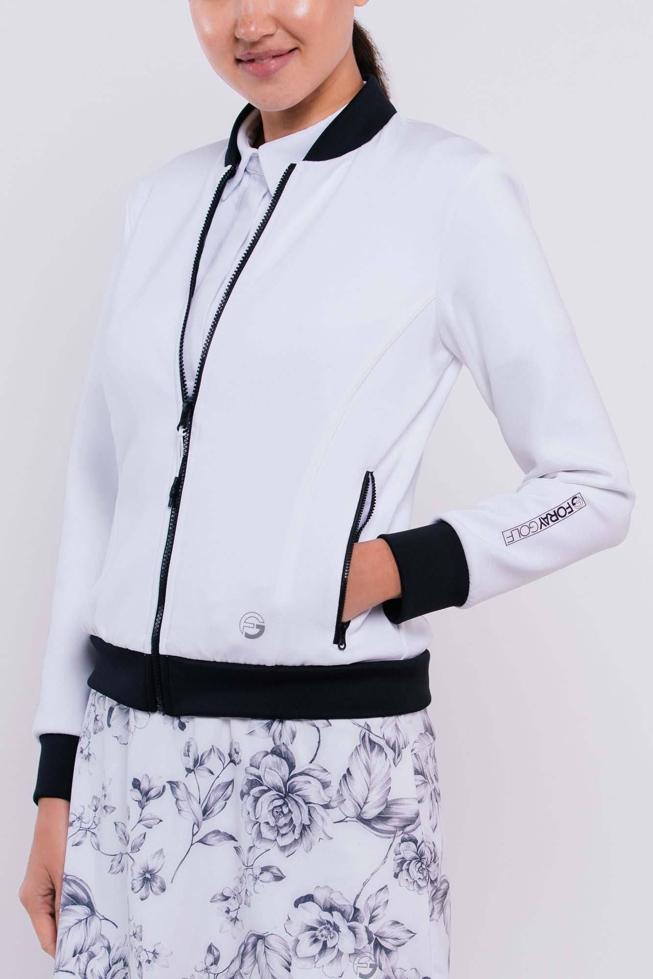 Core Neoprene Jacket | white   xs