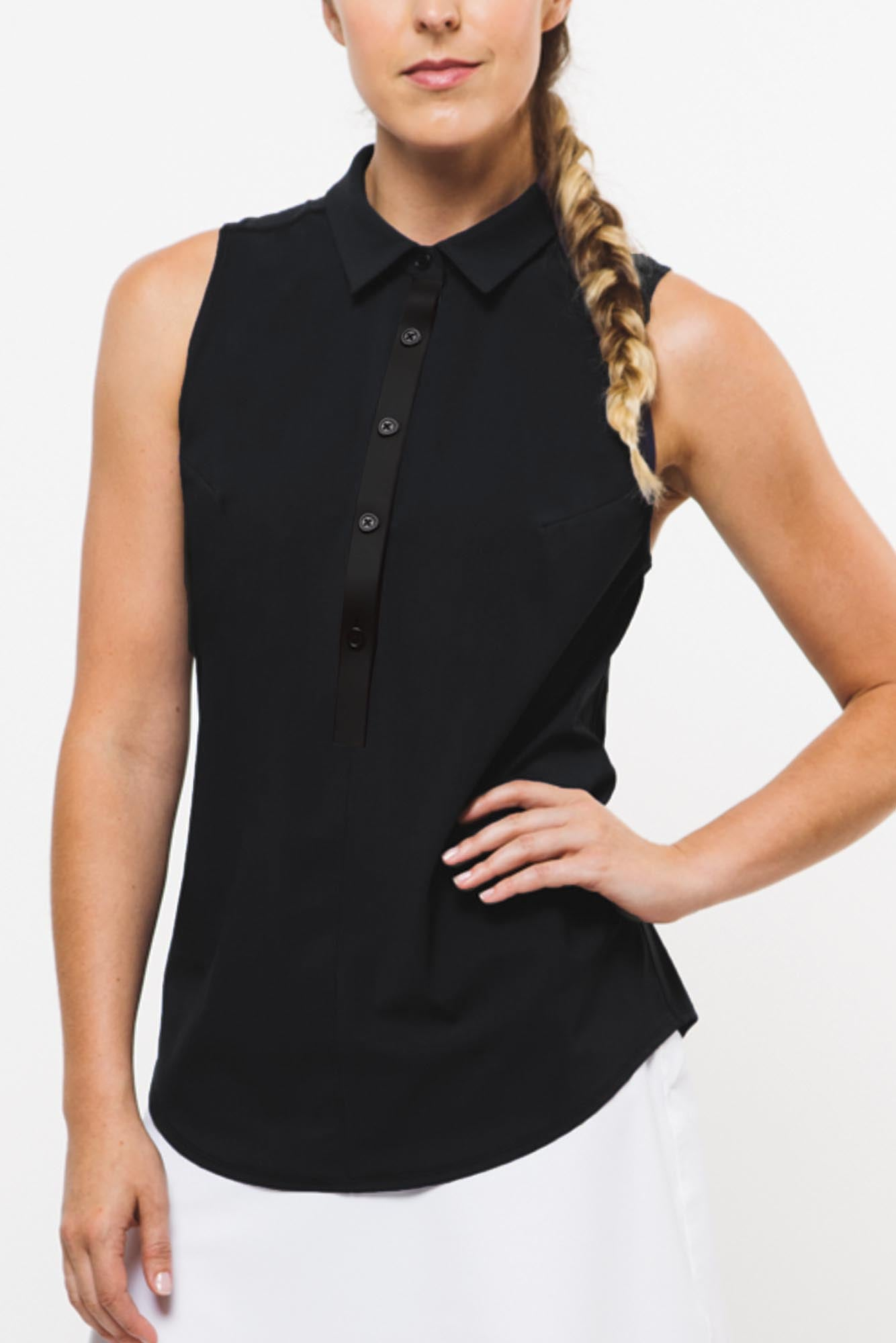 CORE 2.0 Sleeveless Polo | nero black   xxs