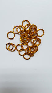 "Jump Rings Orange Aluminum 18swg 3/16"" (5.0mm)ID 4.2AR 100pc"