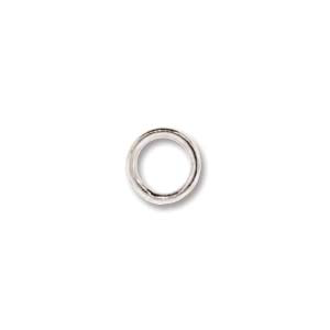 Jump Ring Soldered 6mm 20g 10pcs Silver Plated