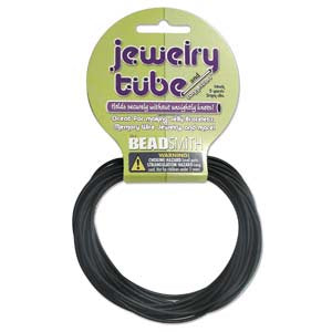Jewelry Tube 5 yards 2mm thick Black