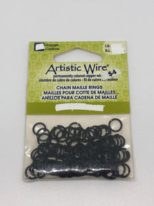"Jump Rings Artistic Wire Black 200pcs 20G 1/8""(3.18mm)ID"