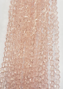 "4MM BICONE CRYSTAL STRAND 17"" - PINK SILK"